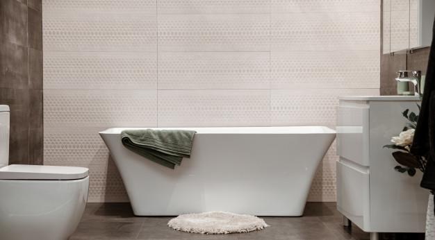 Изкуството под форма на плочки за баня